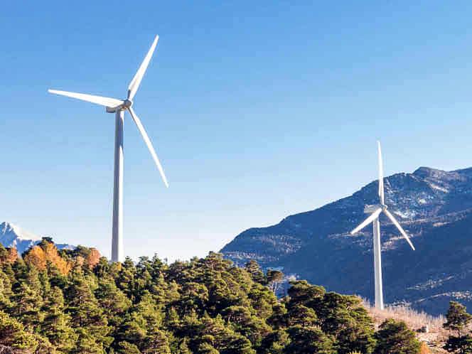 Molinos de viento para generar energía eléctrica